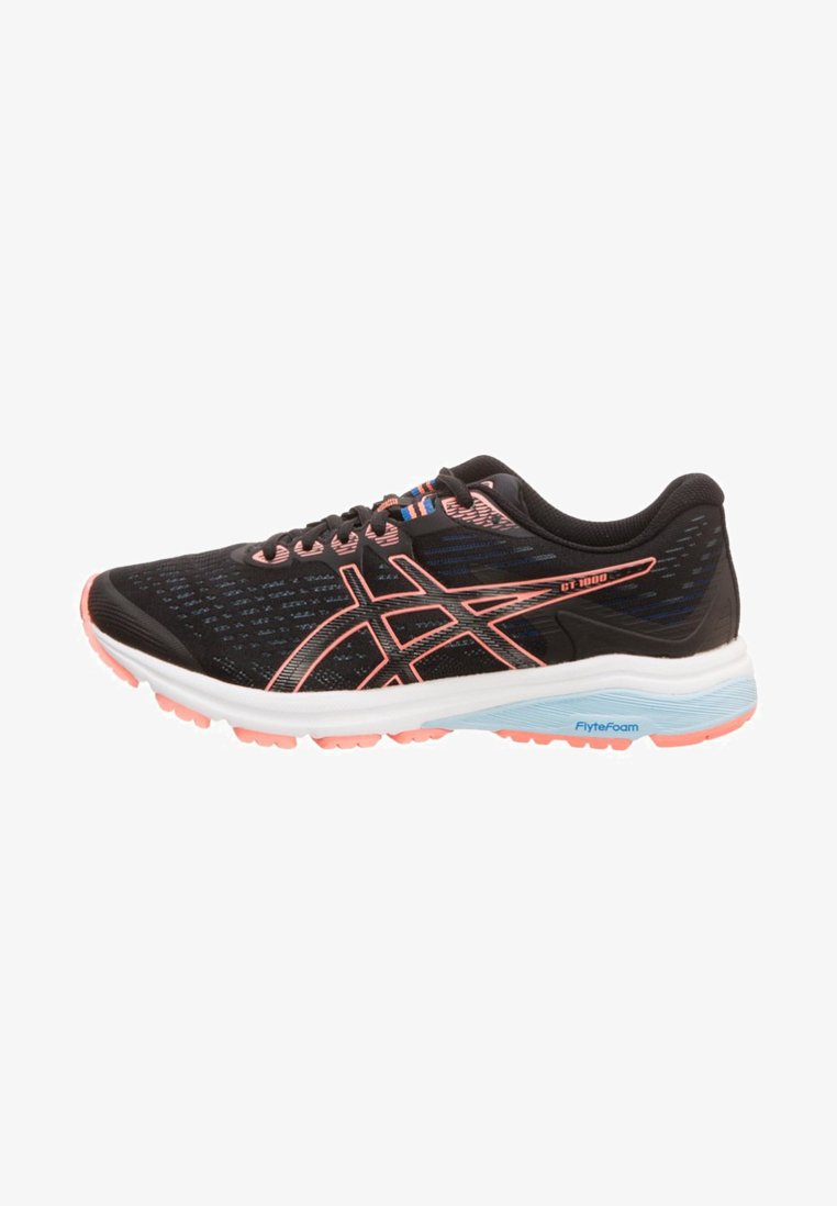 ASICS - GT-1000 8 - Zapatillas de running neutras - black/sun coral