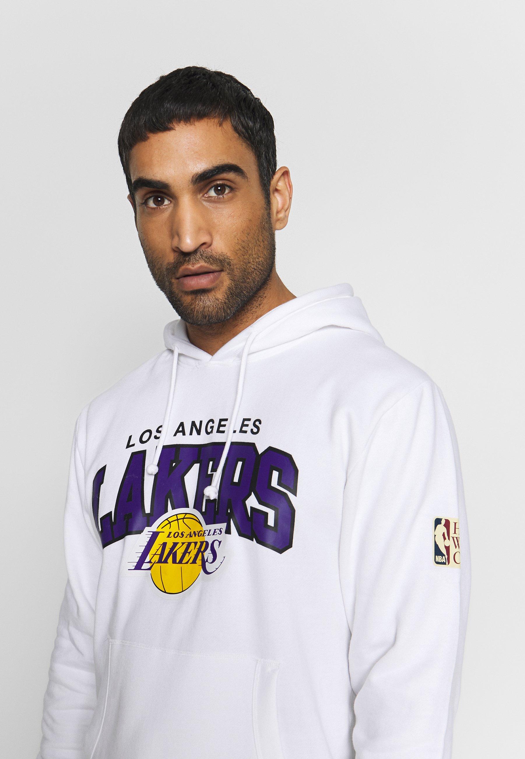 Mitchell & Ness NBA LA LAKERS ARCH LOGO HOODY - Article de supporter - white