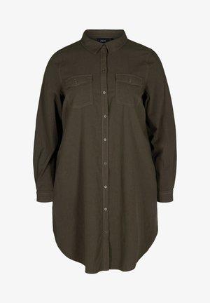MIT BRUSTTASCHEN - Button-down blouse - green