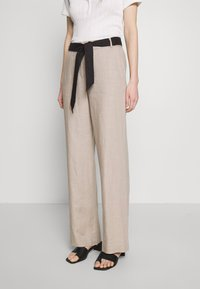Esprit Collection - HR FLARED - Trousers - beige - 0