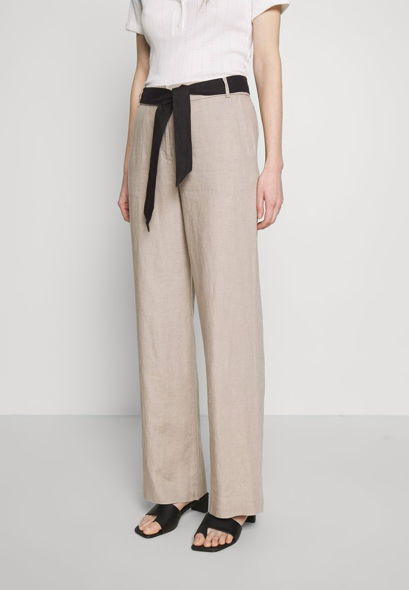 Esprit Collection - HR FLARED - Trousers - beige