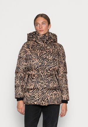 PRINTED SORONA - Winter jacket - soft camel/black