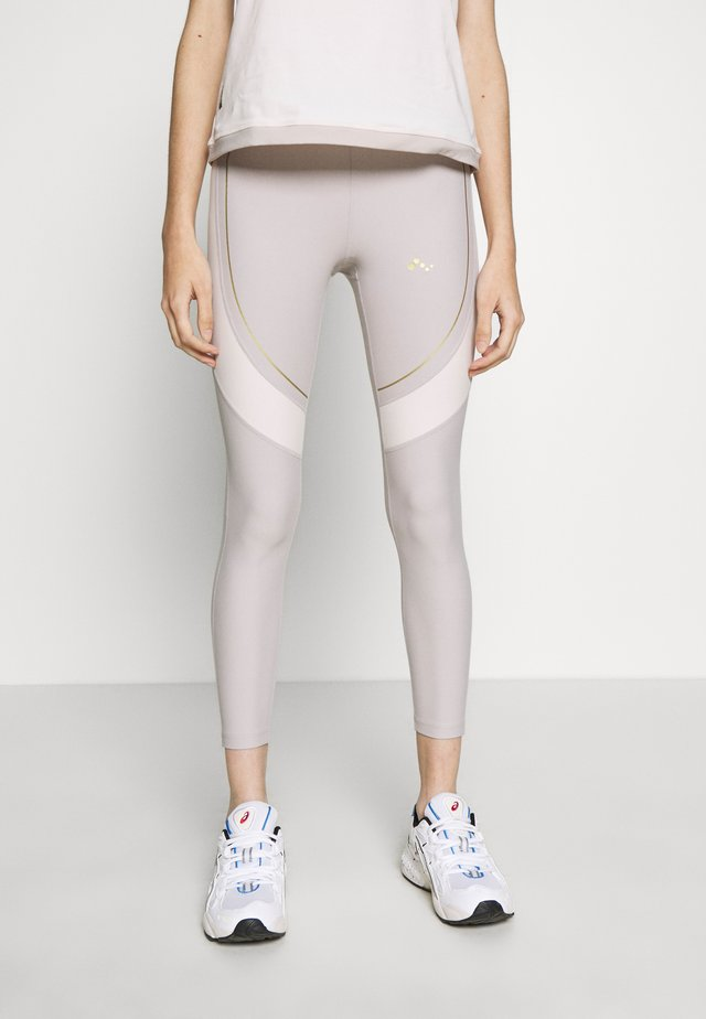 ONPJACINTE TRAINING TIGHTS PETIT - Leggings - Trousers - ashes of roses/lilac ash/white