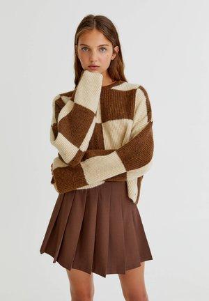 Jupe plissée - brown
