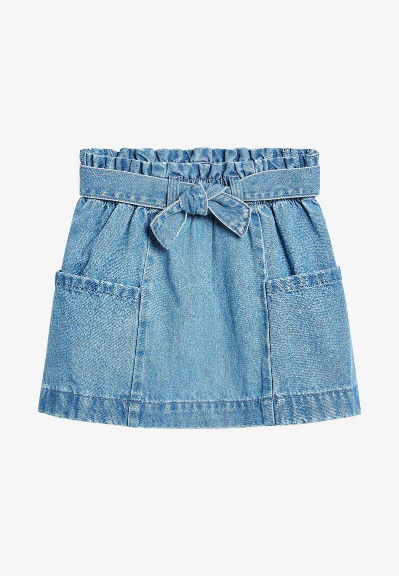 Next - Áčková sukně - light-blue denim