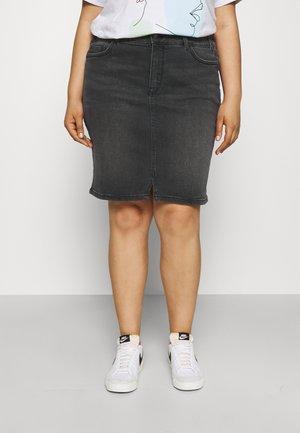 Mini skirt - dark stone black denim
