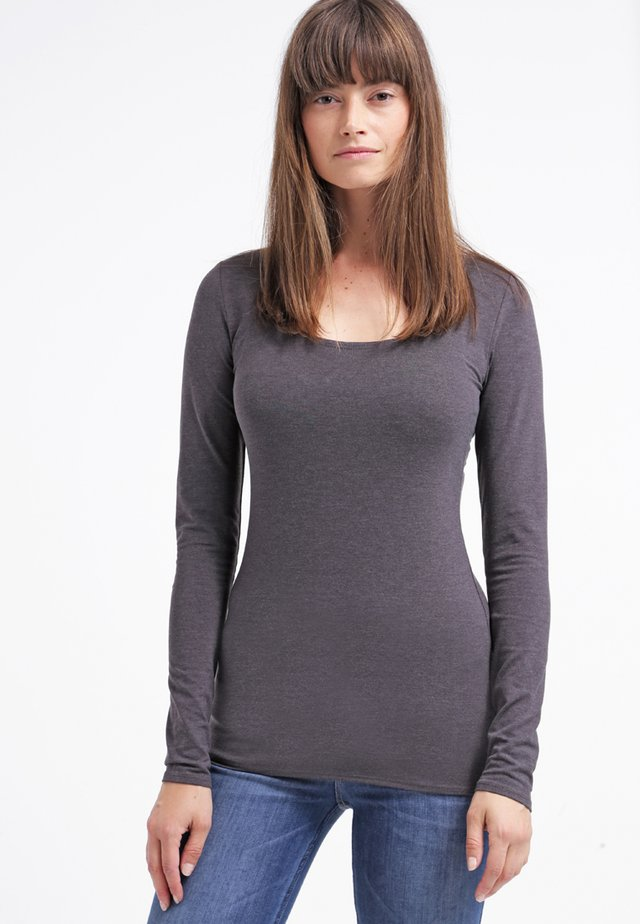 2 PACK - Long sleeved top - black/dark grey