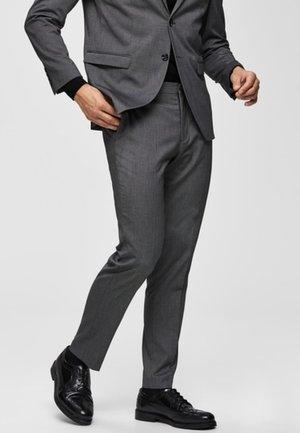 Suit trousers - dark grey melange