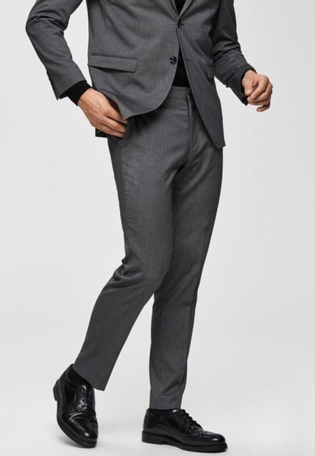 Pantalon - dark grey melange