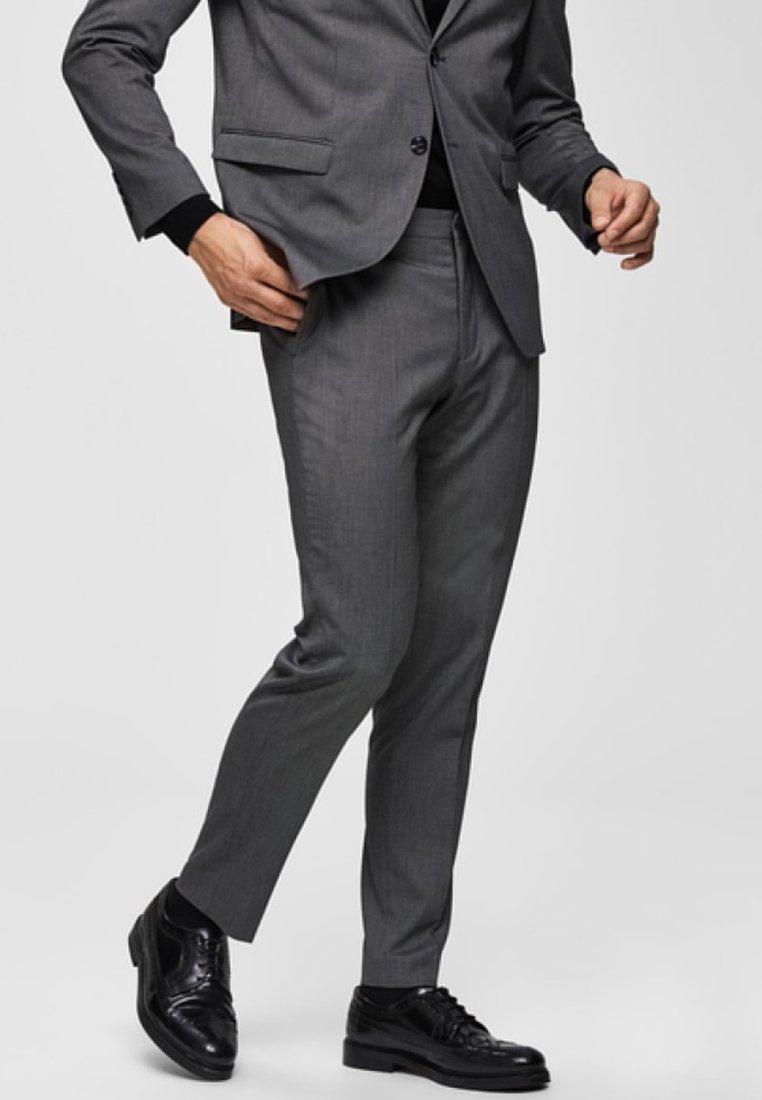 Selected Homme - Anzughose - dark grey melange
