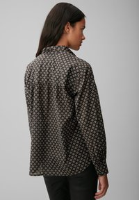 Marc O'Polo - VOILE - Button-down blouse - black, black - 2