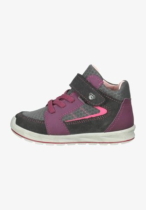 Sneakersy wysokie - asphalt/grau/merlot 384