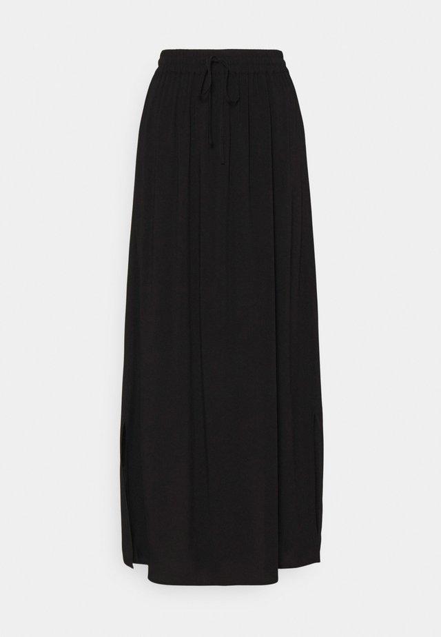VILANA SLIT SKIRT - Maxi skirt - black