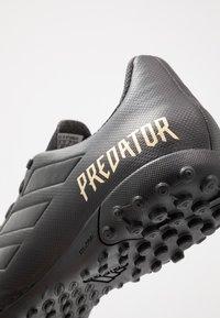 adidas Performance - PREDATOR 19.4 TF - Voetbalschoenen voor kunstgras - core black/utility black - 5