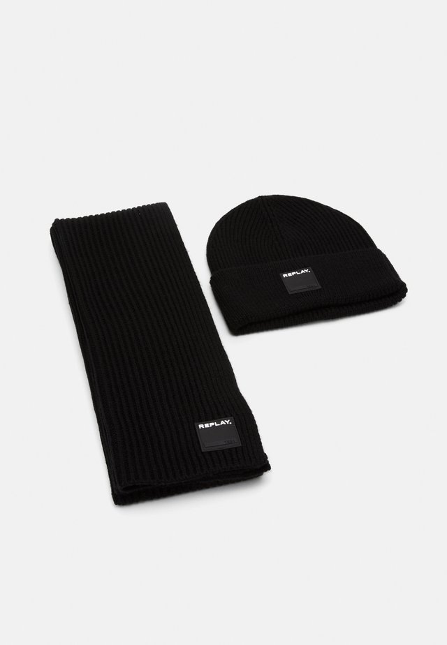 HAT SCARF SET - Sjal - black
