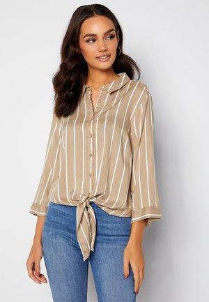 JULIETTE SS KNOT - Button-down blouse - tan