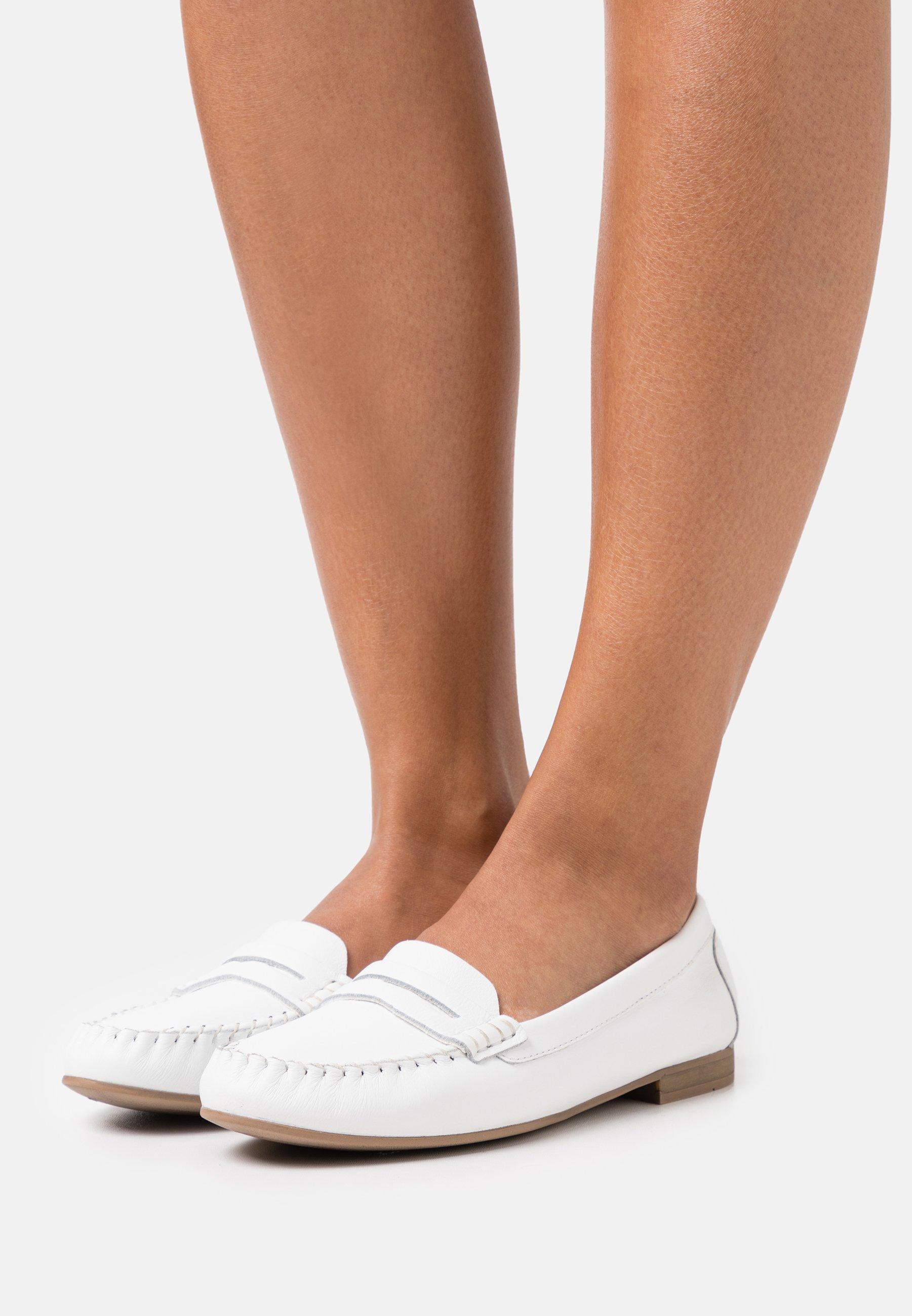 Women LEATHER - Slip-ons - white