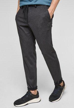 Trousers - dark grey glencheck