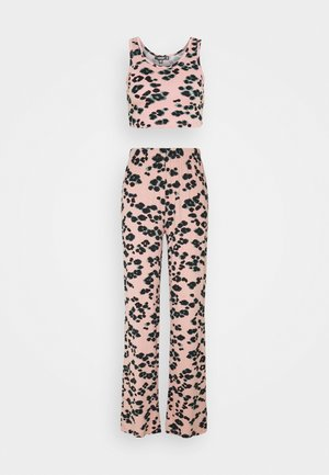 LEOPARD SLEEVELESS LONG LEG SET - Pyjama set - pink