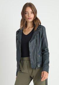 Oakwood - VIDEO - Leather jacket - petrol - 0
