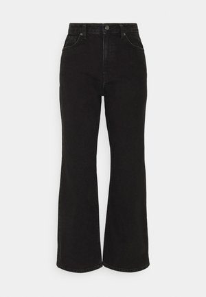 HIGHWAIST - Flared Jeans - washed black