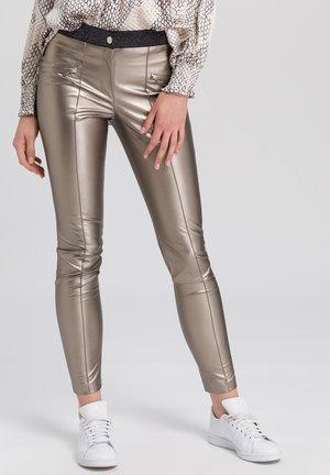 Leggings - Trousers - gold