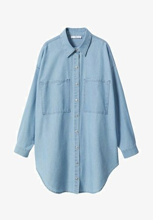OVERSIZE - Button-down blouse - bleu clair