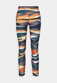 Sweaty Betty - POWER 7/8 WORKOUT LEGGINGS - Tights - orange hills print - 6