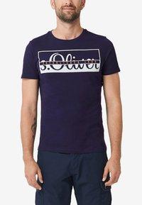 s.Oliver - Print T-shirt - purple - 3