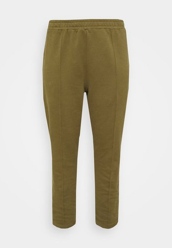 SEAM FRONT TAPERED JOGGERS - Tracksuit bottoms - khaki