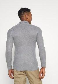 Brave Soul - GREENFORDA - Stickad tröja - silver grey marl - 2
