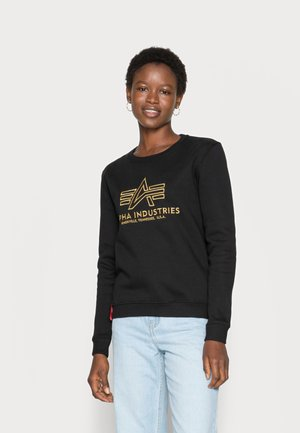 BASIC SWEATER EMBROIDERY - Sweatshirt - black