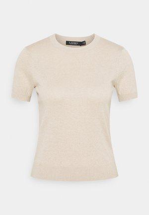 T-shirt z nadrukiem - champagne