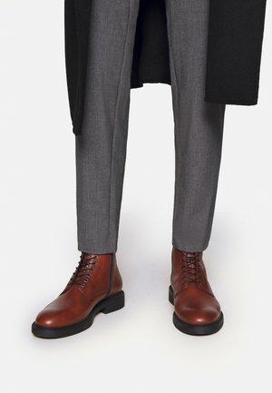 ALEX - Lace-up ankle boots - cognac