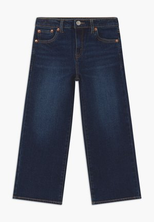 CROPPED WIDE LEG - Vaqueros boyfriend - dark-blue denim
