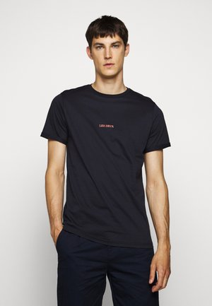 LENS - Print T-shirt - dark navy