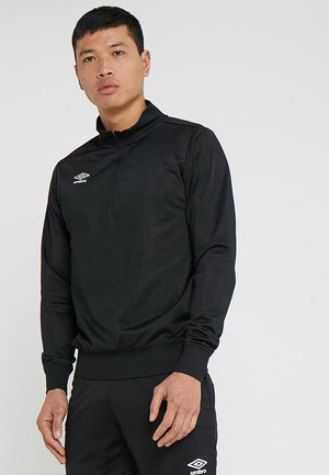 HALF ZIP  - Long sleeved top - black
