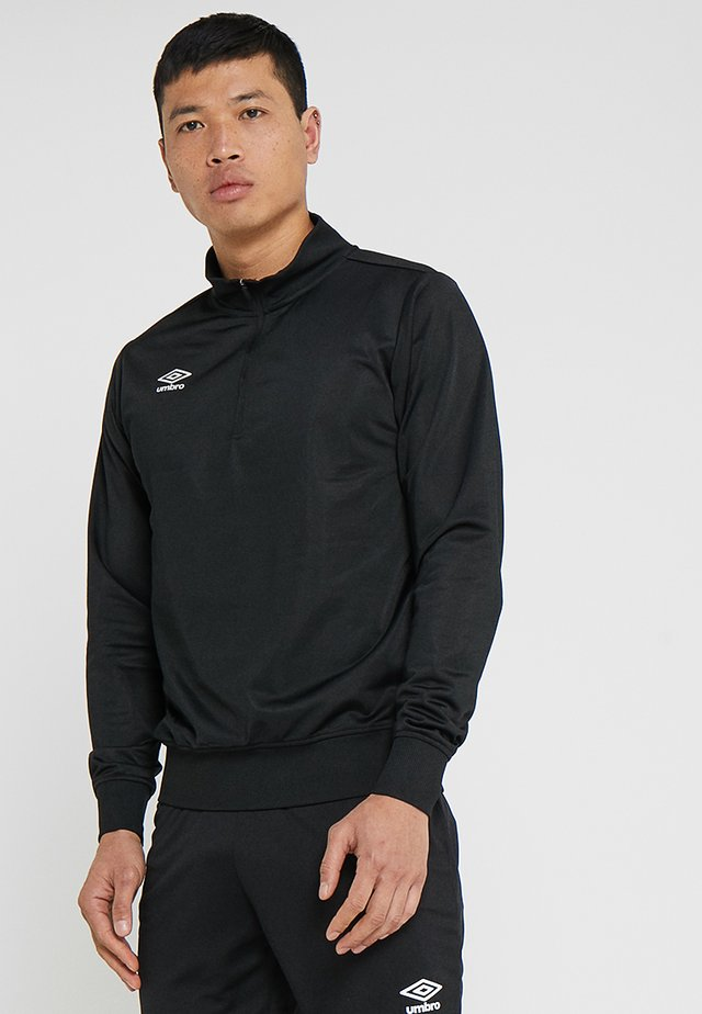 HALF ZIP  - Camiseta de manga larga - black