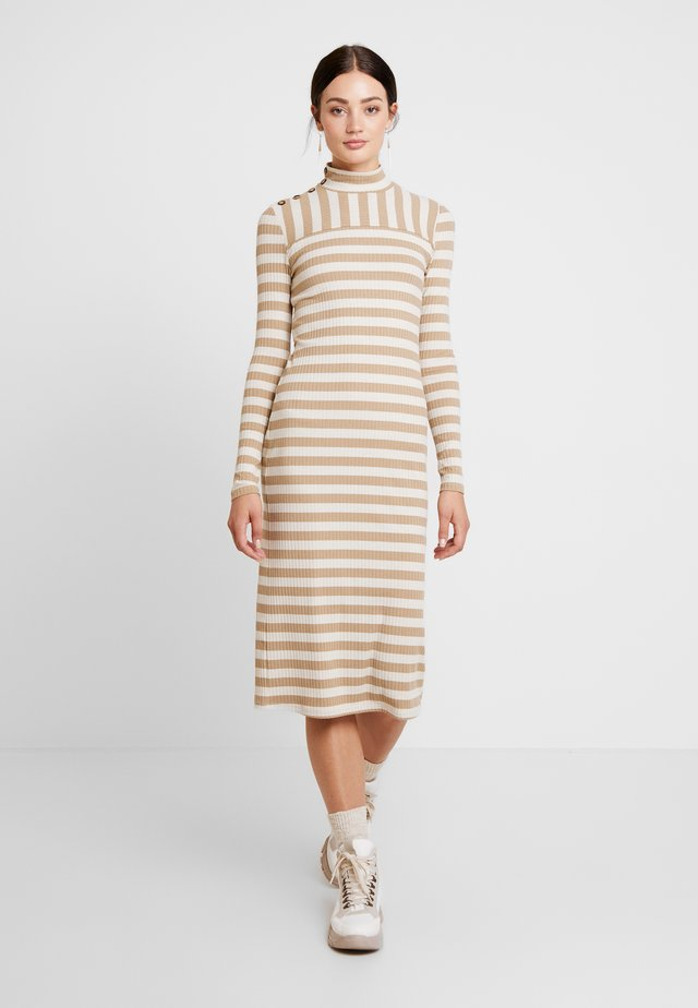 BERRA STRIPE DRESS - Vestido de punto - portabella