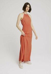 TOM TAILOR DENIM - Maxi dress - sundown coral - 1
