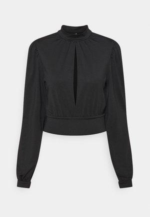 KEYHOLE FRONT - Long sleeved top - black