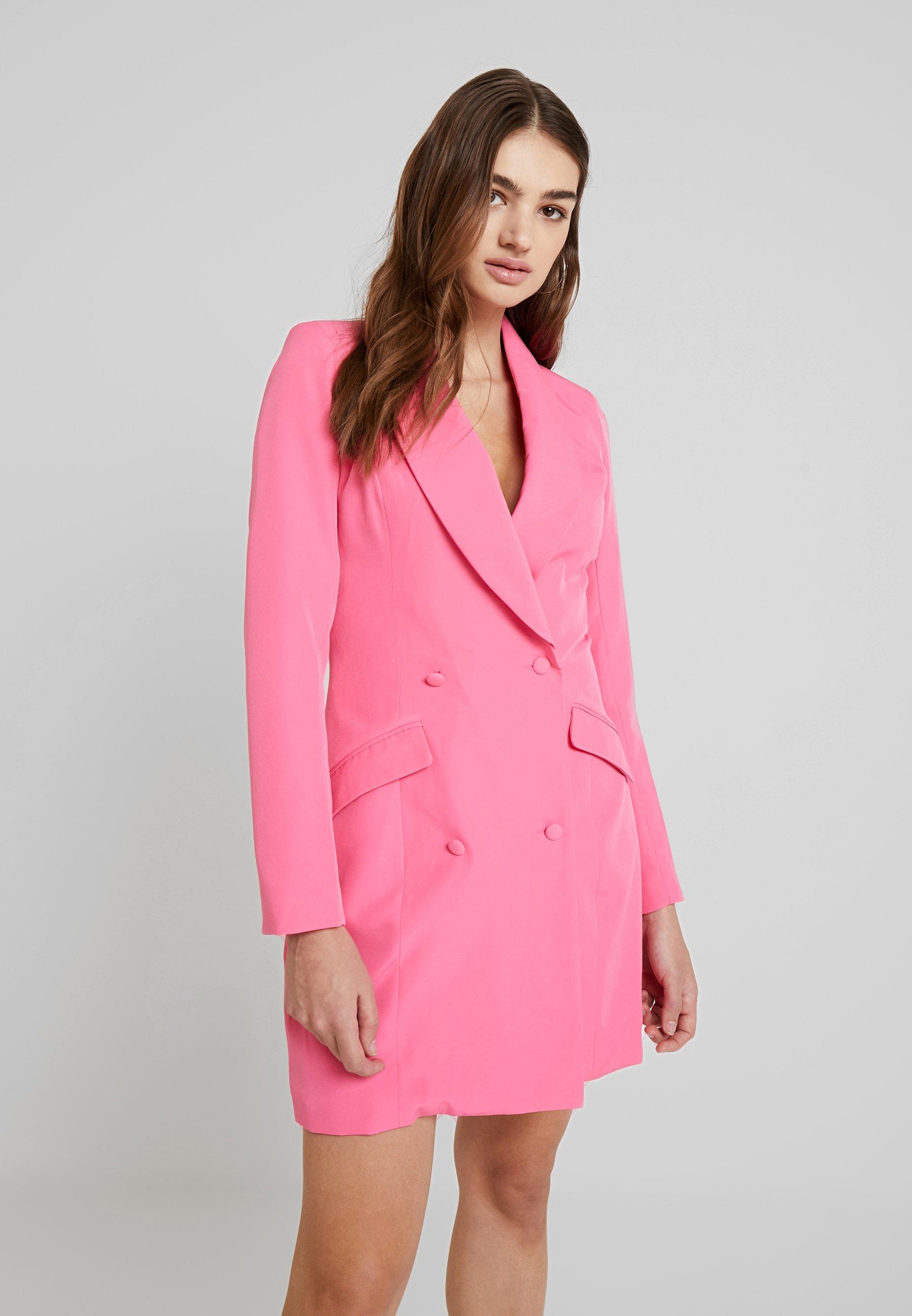 pink blazer dress