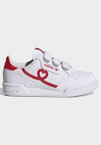 adidas Originals - CONTINENTAL 80 SHOES - Baskets basses - footwear white/vivid red - 6