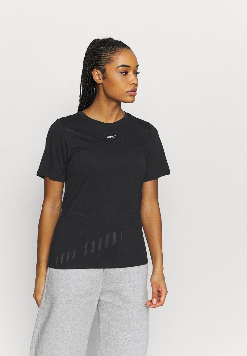 Reebok - BURNOUT TEE - T-shirt con stampa - black