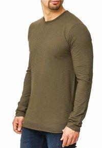 INDICODE JEANS - LONGSLEEVE WILLBUR - Long sleeved top - dark green - 3