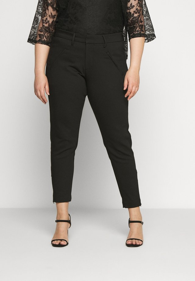 YMARIAMY CROPPED PANT - Stoffhose - black