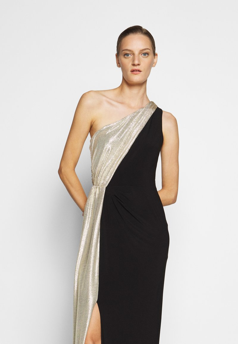 Lauren Ralph Lauren - CLASSIC LONG GOWN  - Occasion wear - black/lannister gold