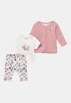 SET - T-shirt con stampa - light pink/off-white