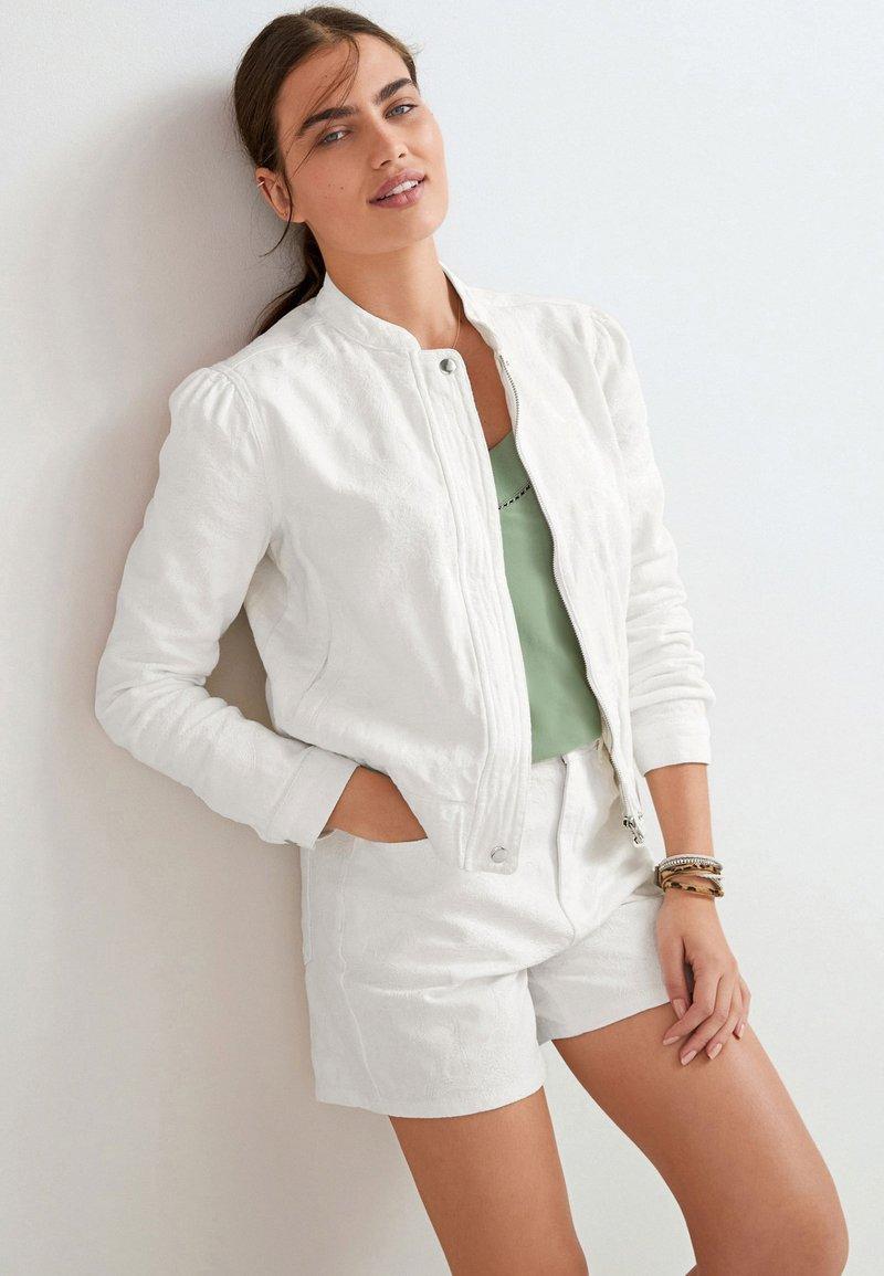 Next - Denim jacket - white