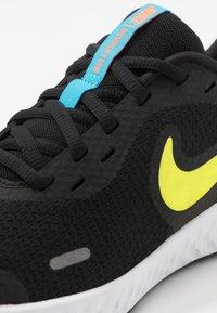 Nike Performance - REVOLUTION UNISEX - Neutral running shoes - black/lemon/laser blue/hyper crimson/white - 2